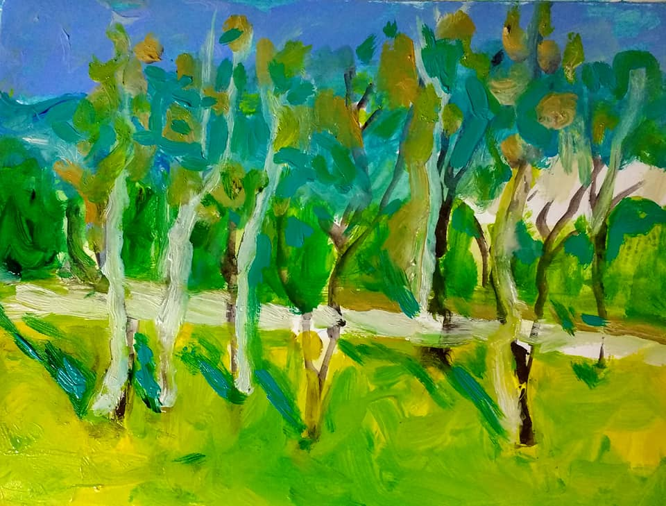 Trees-painting-by-Joyce-Lieberman