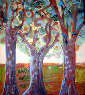 Canopy-painting-of-trees-by-Joyce-Lieberman