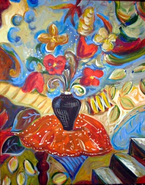 Swirling-Song-Unstill-Life-painting-by-Joyce-Lieberman